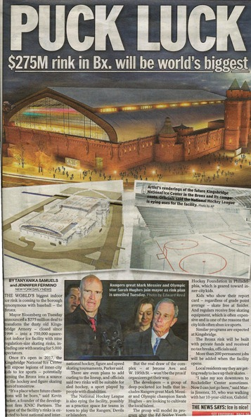 Kingsbridge Armory Ice Rink News story