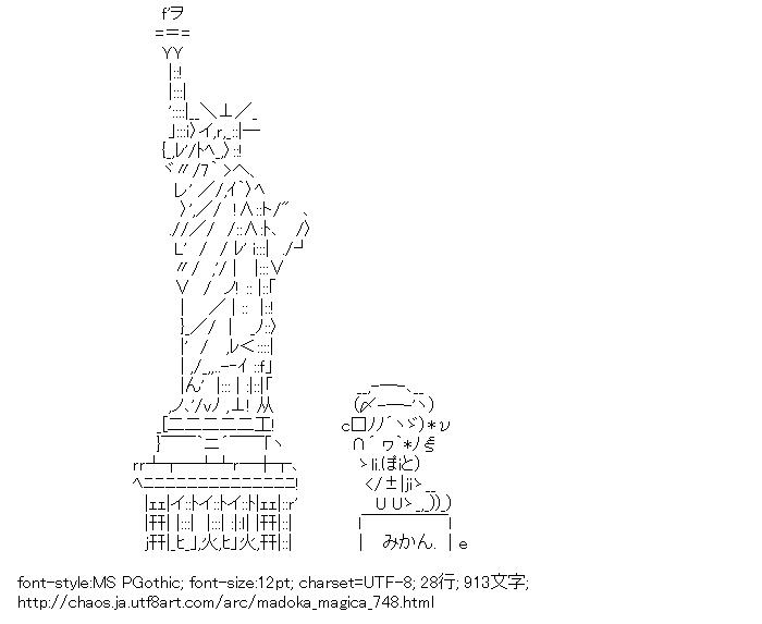 [AA]自由の女神 & 巴マミ (魔法少女まどか☆マギカ)
