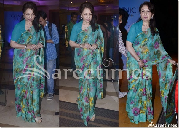 Green_Printed_Saree