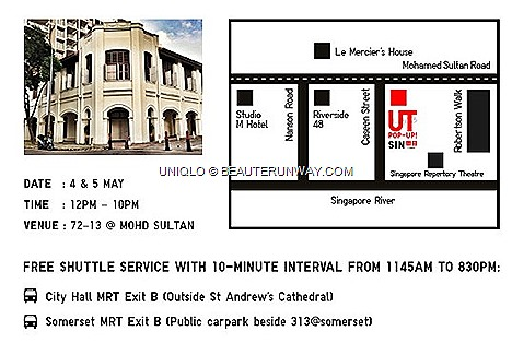 UNIQLO UT POP-UP SHUTTLE BUS SERVICE SINGAPORE STORE heatreWorks, 72-13 Mohamed Sultan Lulu Guinness Keith Haring Star Wars Pixar MTV Coca Cola National Geographic Andy Warhol new UT designs T-shirts collaborations $16.90 T