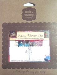 Spring Flower Chic unmtd rubber stamp girl