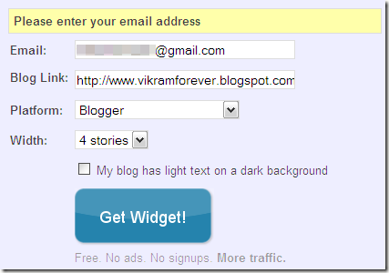 LinkWithin- related blog post widget signup