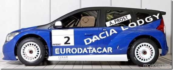 Dacia Lodgy MPV 12  - Silhouet van de toekomstige MPV is duidelijk herkenbaar
