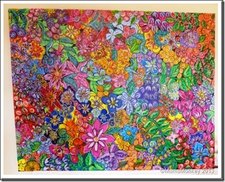 Large flowery paint picture
