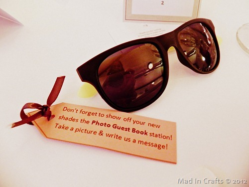 Sunglass Wedding Favors