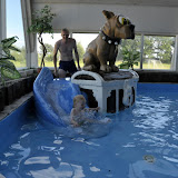 Bøsøre camping havde en indendørs badeland. Dejligt med lidt varmt vand!