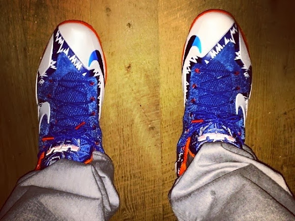 King James Wears LeBron 11 8220Florida Gators8221 Home PE