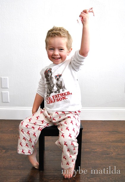 Quick and easy DIY PJ pants for Christmas!