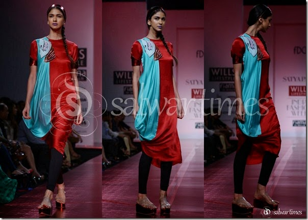 Satya_Paul_Red_Black_Salwar_Kameez
