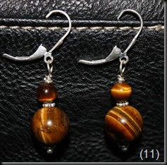 Tiger eye with sterling silver dairies, ball posts and earhooks