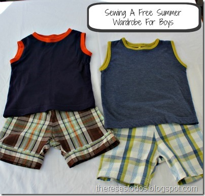 Sewing a Free Summer Wardrobe For Boys