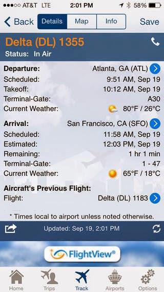 Flightview screen 2