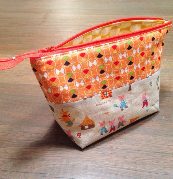 Zipper Pouch Tutorial 1
