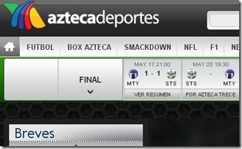transimision en vivo partido final del futbol mexicano en linea 2012