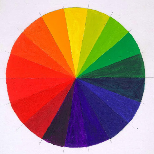Color Value Primary Secondary Color Wheel Oil Paints Warm Cool Variations Chris Carter Artist 092811 Web Color Wheel Paint
