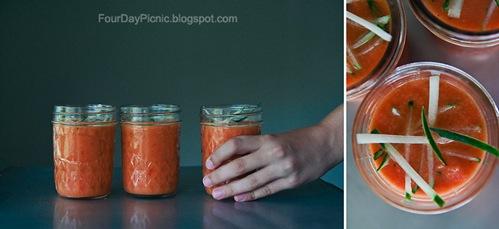 Lunchbox Gazpacho in a Mason Jar