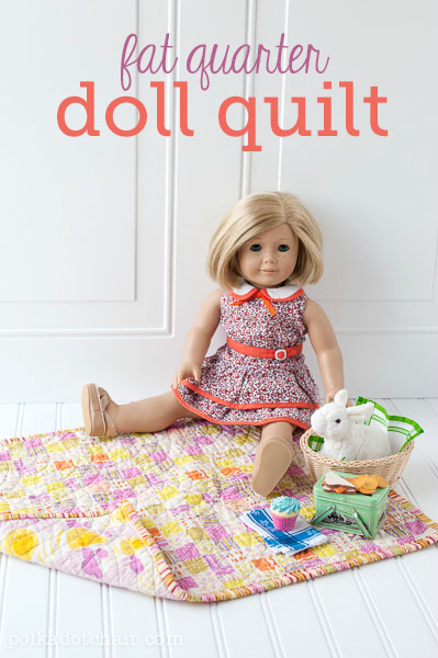 Fat Quarter Doll Quilt Tutorial by Polka Dot Chair
