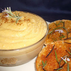 Jerusalem Artichoke Hummus With Rosemary Bruschetta