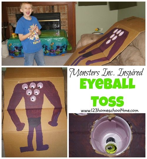monsters inc party games