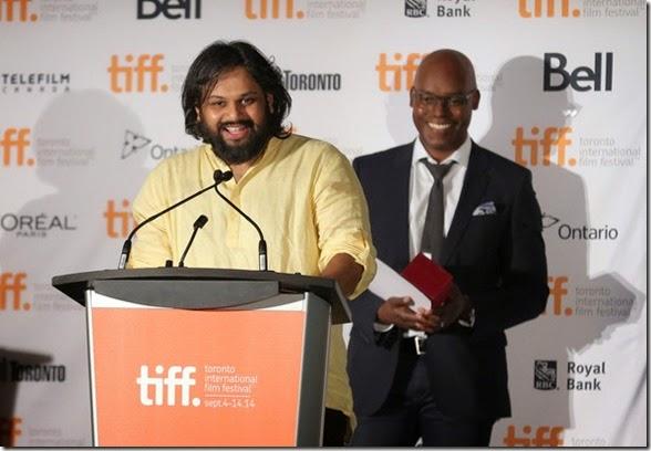 Nilesh Maniyar Cameron Bailey TIFF Awards Brunch 2014 Toronto 1