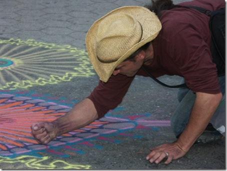 desene cu nisip pe asfalt