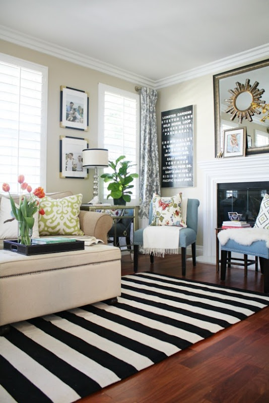 a new living room rug stripes for the win a thoughtful