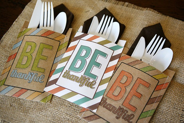 Be Thankful Utensil Holders by eighteen 25