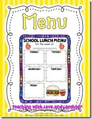 menu for cover
