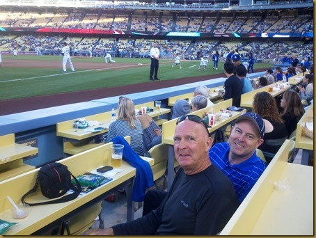 vic and todd at dodger game