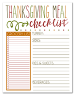 I should be Moppong the Floor - thanksgiving checklist