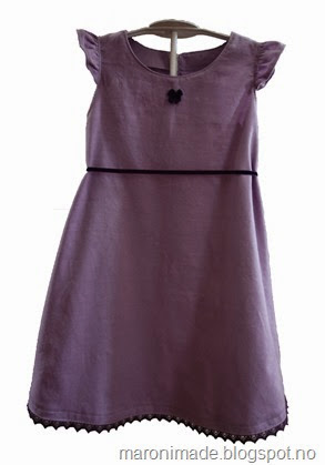 kjole lilla babycord - ikke publisert