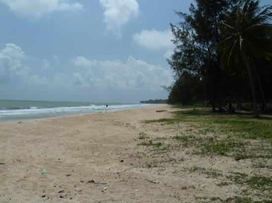 The beach at Desaru - pretty impressive apart from the rubbish