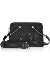 Karl Black textured-leather shoulder bag