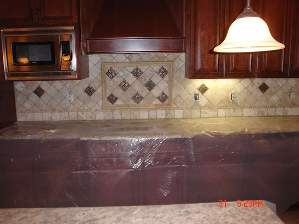 Travertine_tile_kitchen_backsplash Kitchen Backsplash Designs