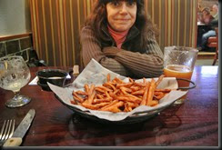 Cheryl and her Sweet Potato Fries!