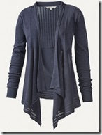 Navy Blue Waterfall Cardigan