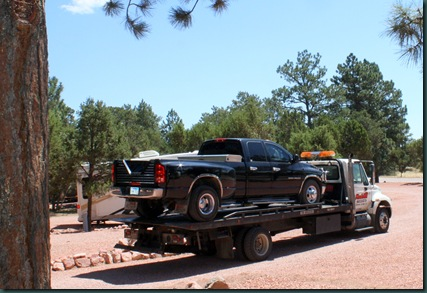To Colorado, RV park and tow truck 066