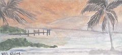 sunset in the Florida Keys watercolor2