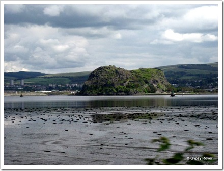 Dumbarton castle in the Firth of Clyde.
