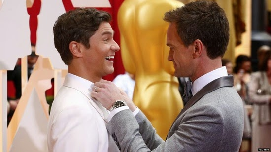 neil ptrick harris david burtka oscars 2015