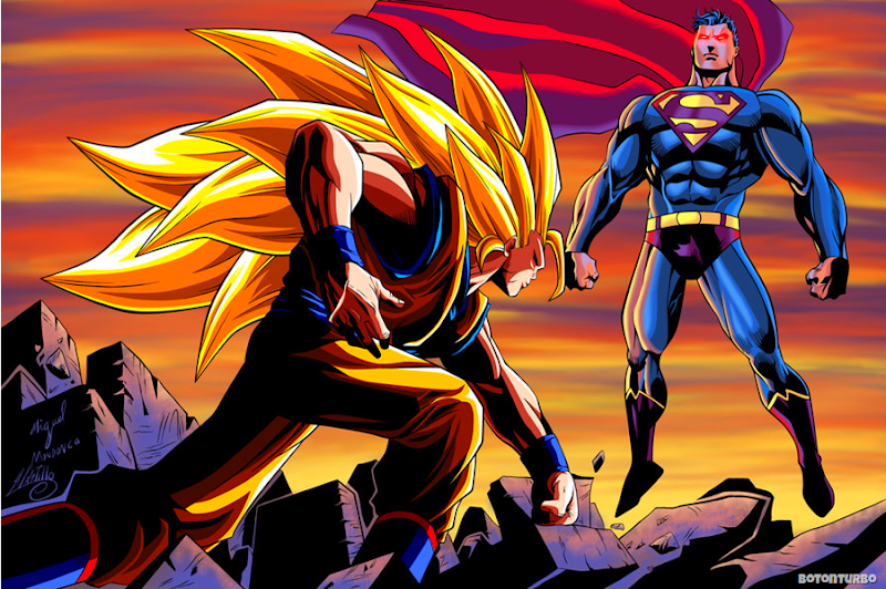 Goku SSJ3 vs Superman
