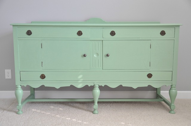Painted Green Buffet
