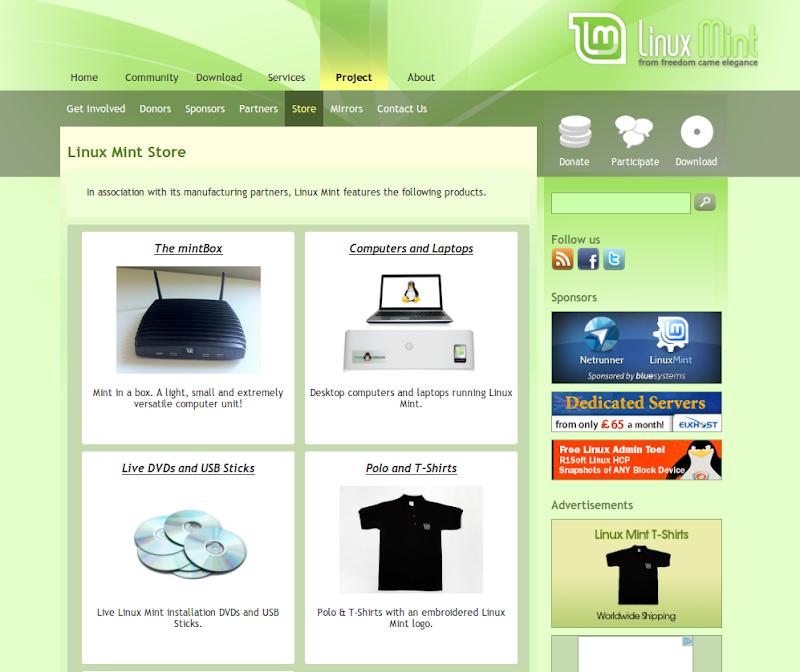 linux mint store il nuovo shop targato linux mint. Black Bedroom Furniture Sets. Home Design Ideas