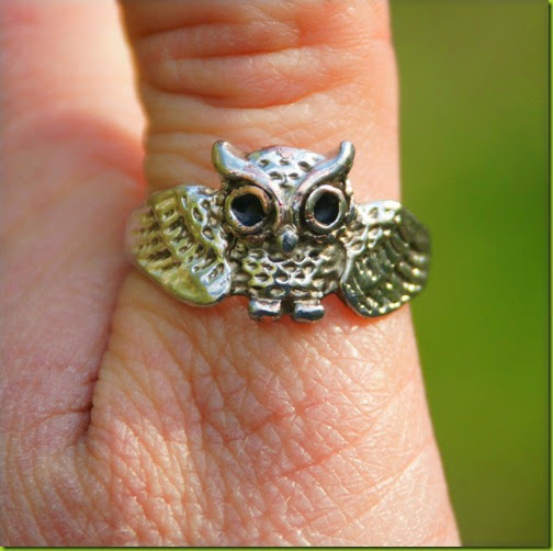 owl design thumb ring