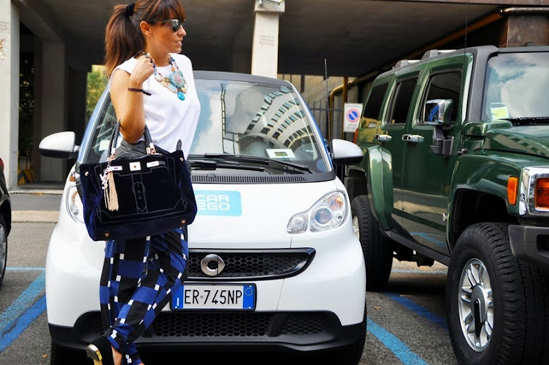 outfit, mercedes benz, milan fashion week, car2go, italian fashion bloggers, fashion bloggers, street style, zagufashion, valentina coco, i migliori fashion blogger italian