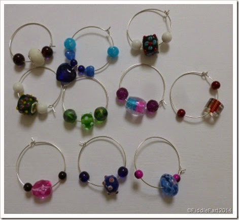 glass wine charms