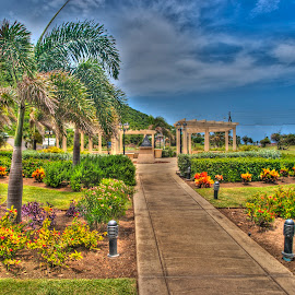 Round About in Saint Kitts by Robert England - City,  Street & Park  City Parks