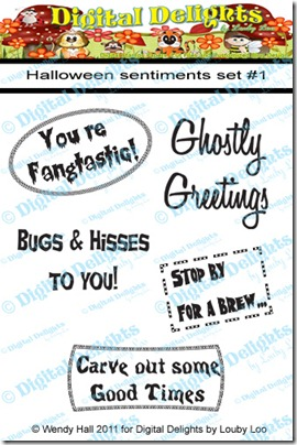Halloween sentiments set 1