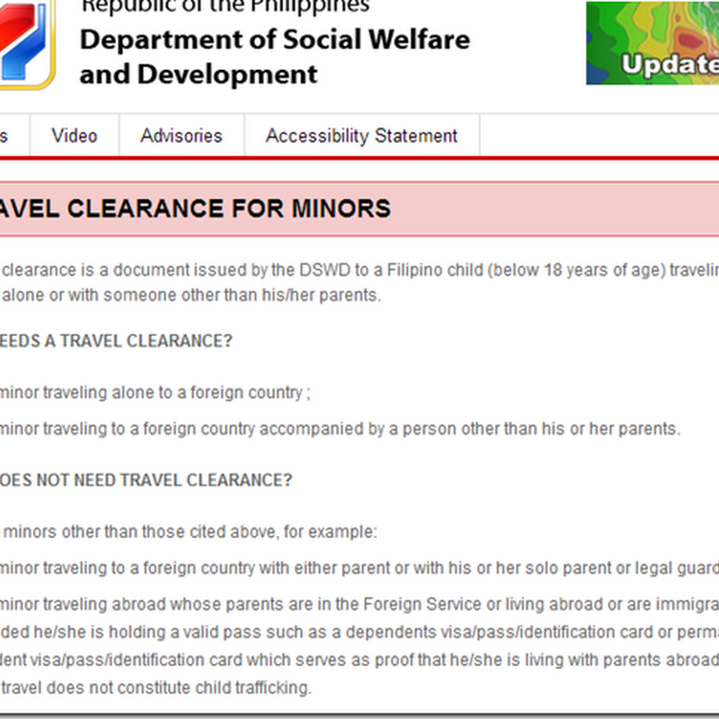 How to get DSWD Travel Clearance for Minors Traveling Abroad