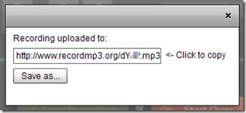 Recordmp3.org salvare e/o condividere il file Mp3